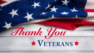 thank you veterans with flag